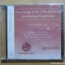 Libros de segunda mano: CD-ROM - PROCEEDINGS OF THE 29TH INTERNATIONAL CONFERENCE OF AEDEAN - 2006. Lote 243840210