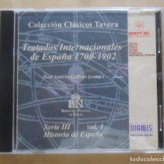 Libros de segunda mano: CD-ROM - CLASICOS TAVERA Nº 38 - SERIE III, VOL. 1 - TRATADOS INTERNACIONALES DE ESPAÑA 1700-1902. Lote 244658985