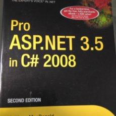 Libros de segunda mano: PRO ASP.NET 3.5 IN C++ 2008. Lote 245018145