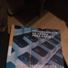 Libros de segunda mano: PROGRAMACION EN ABAP/4 PARA SAP R/3 - RAQUEL HIJÓN NEJRA. Lote 251601165