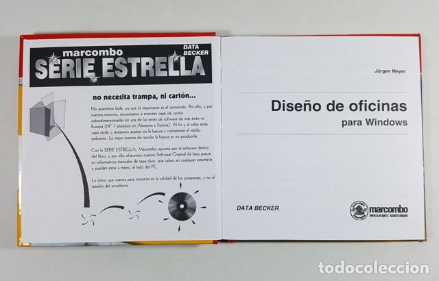 Libros de segunda mano: DISEÑO DE OFICINAS PARA WINDOWS, SERIE ESTRELLA DATA BECKER MARCOMBO 1996,LIBRO 94 PAG + CD PROGRAMA - Foto 3 - 253175890