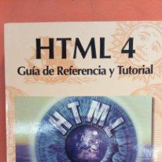 Livros em segunda mão: HTML 4. GUÍA DE REFERENCIA Y TUTORIAL. JOSÉ LUIS RAYA. RA-MA EDITORIAL.. Lote 256151500