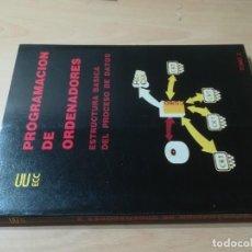 Libros de segunda mano: ESTRUCTURA BASICA DEL PROCESO DE DATOS TOMO 2 / PROGRAMACION DE ORDENADORES / TESYS / AH-39. Lote 257478330