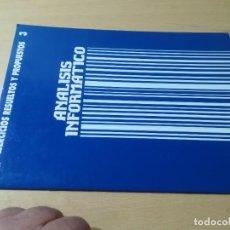 Libros de segunda mano: EJERCICIOS PROPUESTOS Y RESUELTOS 3 / ANALISIS INFORMATICO / GRUPO ECC / AH-39. Lote 257479255