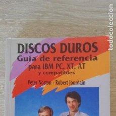Libros de segunda mano: DISCOS DUROS-GUÍA DE REFERENCIA PARA IBM PC,XT,AT Y COM-PETER NORTON-R.JOURDAIN-ED.ANAYA-1990-1ª ED.. Lote 263156510