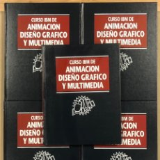 Libros de segunda mano: CURSO IBM DE ANIMACIÓN, DISEÑO GRÁFICO Y MULTIMEDIA. 5 TOMOS. MULTIMEDIA EDICIONES 1996.. Lote 265375964