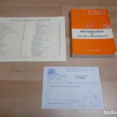 Libros de segunda mano: LIBRO METODOLOGIA DE ANALISIS Y PROGRAMACIÓN DE 1985. Lote 265515314