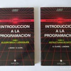 Libros de segunda mano: INTRODUCCION A LA PROGRAMACION (2 TOMOS) 1985. Lote 269138508
