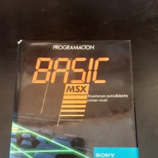 Libros de segunda mano: PROGRAMACIÓN BASIC MSX. ENSEÑANZA AUTODIDACTA PRIMER NIVEL. SONY. Lote 271539278