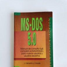 Libros de segunda mano: MS-DOS 5.0 GUÍA RÁPIDA JACKSON. Lote 276650023