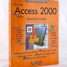 Libros de segunda mano: MANUAL AVANZADO DE ACCESS 2000 ALFONSO GAZO CERVERO ANAYA MULTIMEDIA CON CD-ROM. Lote 277010633