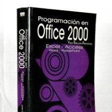 Libros de segunda mano: PROGRAMACION EN OFFICCE 2000 VISUAL BASIC PARA APLICACIONES JORDI CUESTA. Lote 277719968