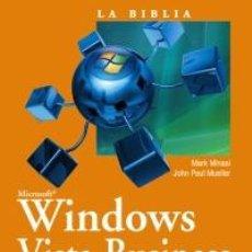 Libros de segunda mano: WINDOWS VISTA BUSINESS ULTIMATE BUSINESS Y ENTERPRISE INCLUYE CD. Lote 162729510