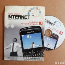 Libros de segunda mano: TODO SOBRE INTERNET CD Nº 10 TOME EL CONTRO DOMINE LA RED GOOGLE DOCS TRABAJANDO EN LA NUBE. Lote 287908598