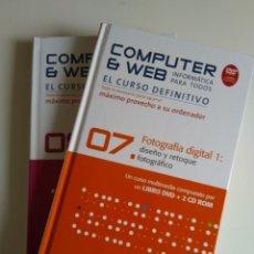 Libros de segunda mano: COMPUTER & WEB FOTOGRAFIA DIGITAL 2 VOLUMENES. Lote 288397918
