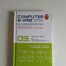 Libros de segunda mano: COMPUTER Y WEB HOJAS DE CALCULO DVD+CD ROM. Lote 288404088