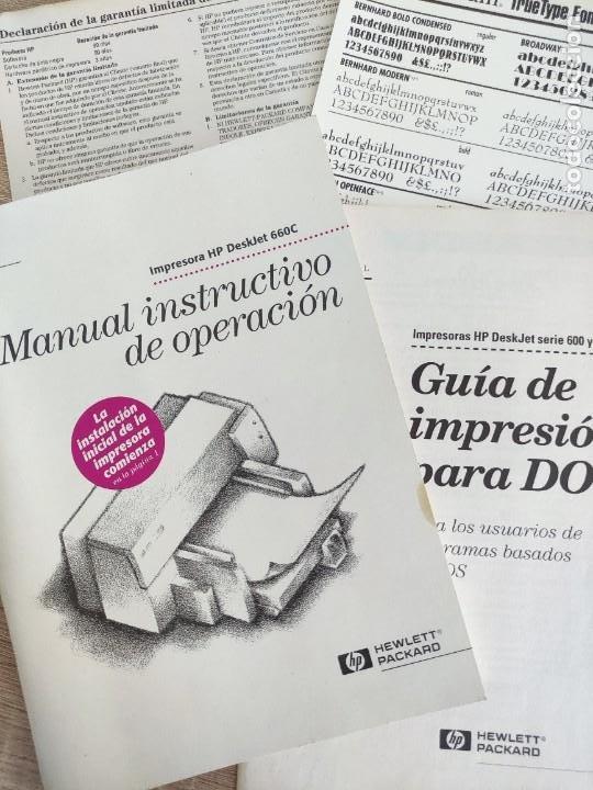 LIBRO 1996 - MANUAL INSTRUCTIVO DE OPERACIÓN - IMPRESORA HEWLETT PACKARD HP DESKJET 660C - 200GR (Libros de Segunda Mano - Informática)