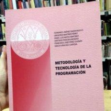 Libros de segunda mano: METODOLOGÍA Y TECNOLOGÍA DE LA PROGRAMACIÓN. JIMÉNEZ BARRIONUEVO, MARTÍNEZ, MATEO, PAREDES, PÉREZ. Lote 297065298