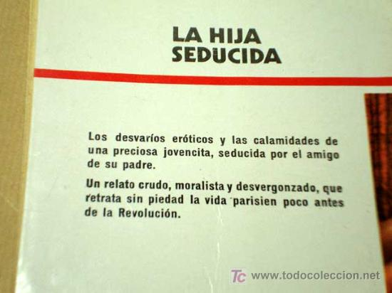 Libros de segunda mano: LA HIJA SEDUCIDA, RESTIF DE LA BRETONNE. EDICIONES VICTORIA 1978. VERSIÓN DE CARLOS DE ARCE.+++++ - Foto 2 - 26292204