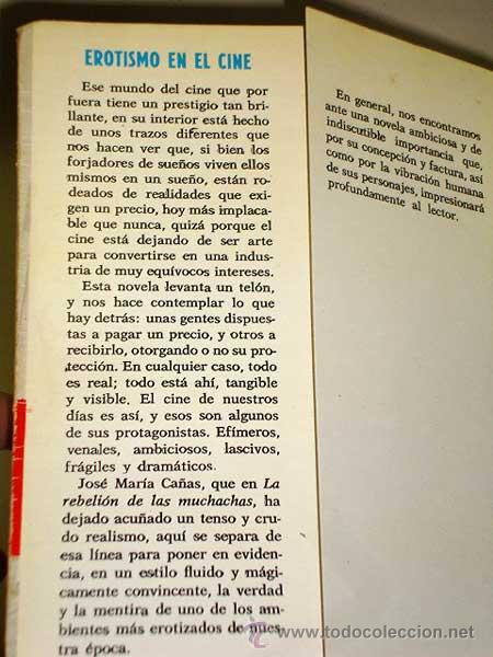 Libros de segunda mano: EROTISMO EN EL CINE. NOVELA DE JOSÉ MARÍA CAÑAS. PRODUCCIONES EDITORIALES 1986. CINE DE DESTAPE. +++ - Foto 2 - 27614721