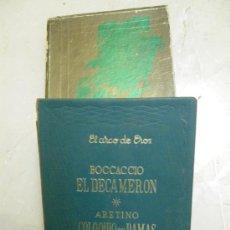 Libros de segunda mano: EL DECAMERÓN DE BOCCACCIO Y COLOQUIO DE DAMAS DE ARETINO, EL ARCO DE EROS. EDAF 1968.. Lote 29613790