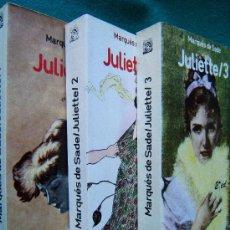 Libros de segunda mano: JULIETTE-AÑO 1797-MARQUES DE SADE-OBRA COMPLETA EN 3 TOMOS-LIBERTINO-SEXO-EROTISMO-1987-RARO.. Lote 45689338