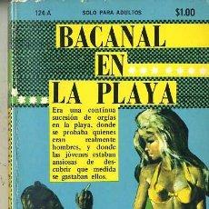 Libros de segunda mano: CARLOS SANLOMÁN : BACANAL EN LA PLAYA (1971) COLECCIÓN PIMIENTA. Lote 30605140