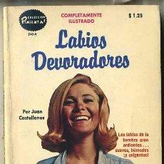 Libros de segunda mano: JUAN CASTELLANOS : LABIOS DEVORADORES (1976) COLECCIÓN PIMIENTA. Lote 30605178