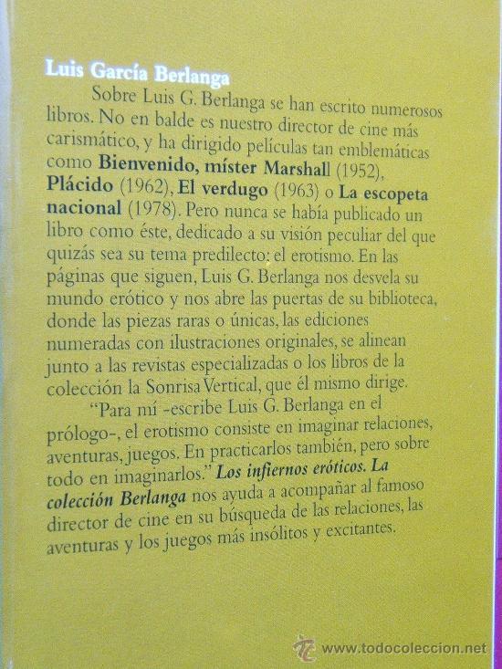 Libros de segunda mano: INFIERNOS EROTICOS-LA COLECCION BERLANGA-VICENTE MUÑOZ PUELLES-MAS 200 FOTOS YDIBUJOS1995-1ªEDICION. - Foto 2 - 30817162