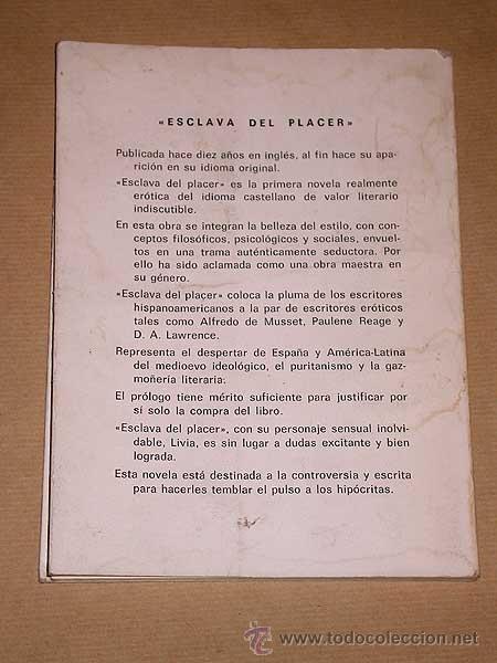 Libros de segunda mano: ESCLAVA DEL PLACER. NEMÉN MICHEL TERC. COMETA, 1980. LITERATURA ERÓTICA HISPANOAMERICANA. +++++ - Foto 3 - 75556322