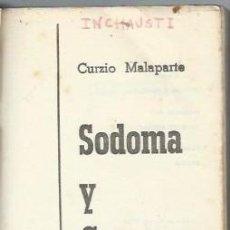 Libros de segunda mano: CURZIO MALAPARTE, SODOMA Y GOMORRA, PLAZA Y JANES, BARCELONA, 1964, 12 POR 18CM, 200 PÁGS. Lote 39840100