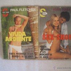 Libros de segunda mano: LOTE DE DOS LIBROS-NOVELAS EROTICAS,EDIDIONES CERES S.A.SEXY FLAS Nº 53 Y SEXY STAR Nº 23. 1979-1980. Lote 107212843