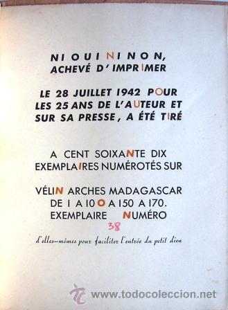 Libros de segunda mano: Bettencourt, Pierre:Ni Oui Ni Non Non. Iui. I. Dessins 6, 9 Poèmes Avec Une Histoire De Coupe Papie - Foto 6 - 45233632
