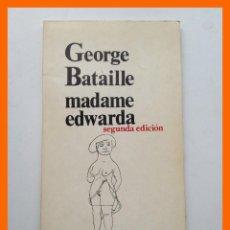 Libros de segunda mano: MADAME EDWARDA - GEORGE BATAILLE - COLECCIÓN LOS BRAZOS DE LUCAS Nº17. Lote 46087690