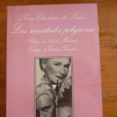 Livres d'occasion: LAS AMISTADES PELIGROSAS. CHODERLOS DE LACATOS. SONRISA VERTICAL. 1ED1989 394 PAG. Lote 48683706