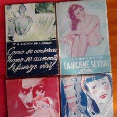 Libros de segunda mano: LOTE 4 LIBROS DE DR. A. MARTIN DE LUCENAY (EDICIONES TEMAS SEXUALES, MÉJICO, AÑOS 50-60). Lote 54462034