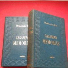 Libros de segunda mano: CASANOVA. MEMORIAS. 2 TOMOS. COMPLETO. JACOBO CASANOVA. AÑO 1962. . Lote 54709486