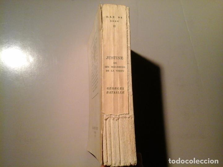 Libros de segunda mano: SADE. JUSTINE OU LES MALHEURS DE LA VERTU. PRÉF: GEORGES BATAILLE. J.J.PAUVERT 1962.EROTISMO.RARO. - Foto 2 - 63817959