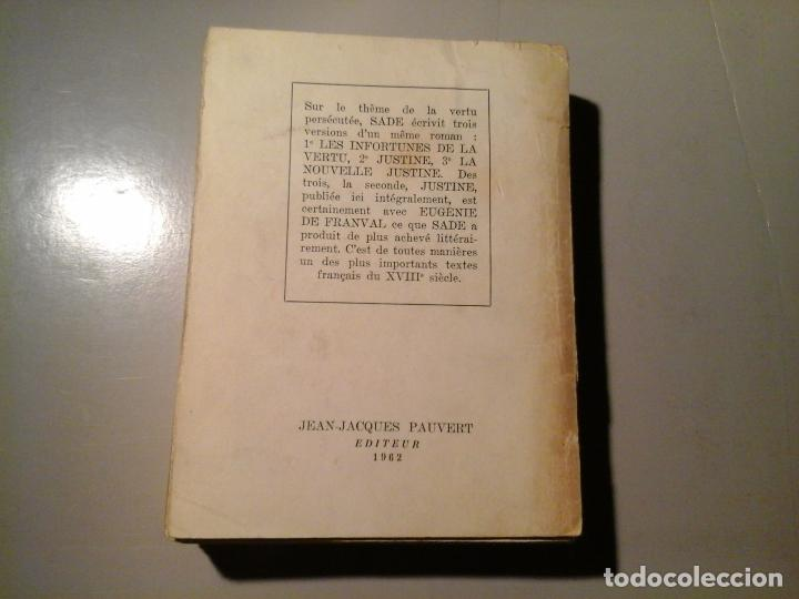 Libros de segunda mano: SADE. JUSTINE OU LES MALHEURS DE LA VERTU. PRÉF: GEORGES BATAILLE. J.J.PAUVERT 1962.EROTISMO.RARO. - Foto 3 - 63817959