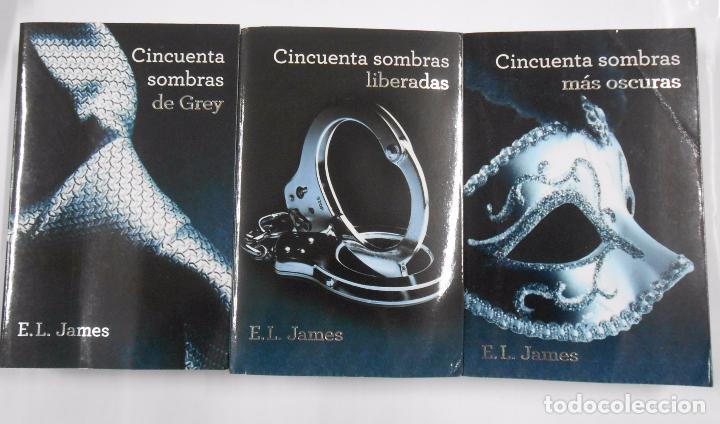 TRILOGIA CINCUENTA SOMBRAS DE GREY. 3 TOMOS VOLUMENES. E.L. JAMES. TDK354 (Libros de Segunda Mano (posteriores a 1936) - Literatura - Narrativa - Erótica)