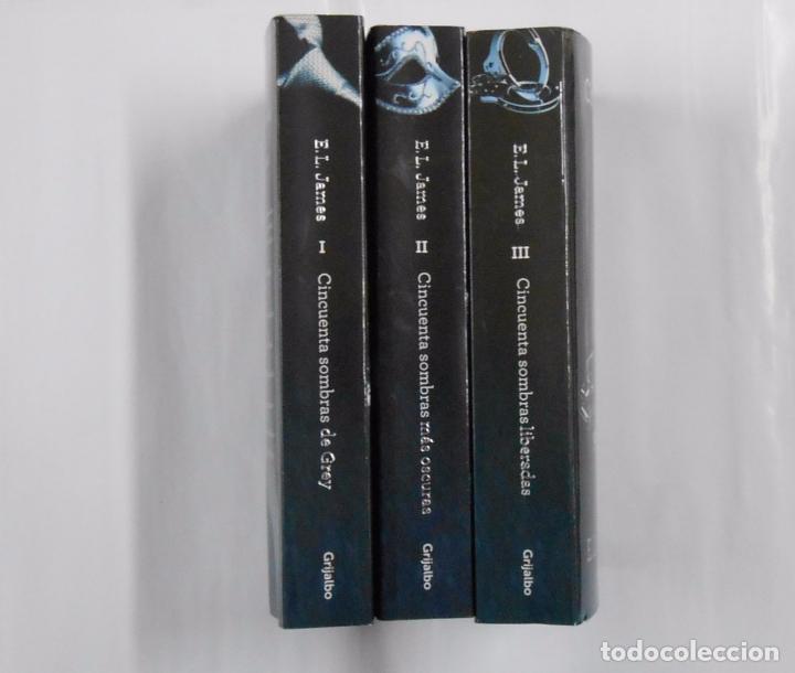 Libros de segunda mano: TRILOGIA CINCUENTA SOMBRAS DE GREY. 3 TOMOS VOLUMENES. E.L. JAMES. TDK354 - Foto 2 - 217584097