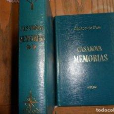 Livres d'occasion: MEMORIAS. JACOBO CASANOVA, 2 TOMOS. EDAF, MADRID 1968. Lote 95949606