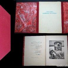 Libros de segunda mano: CANCIONES AMOROSAS DE RIPOLL. CON 10 AGUAFUERTES DE LUIS DE HORNA. Lote 97068623