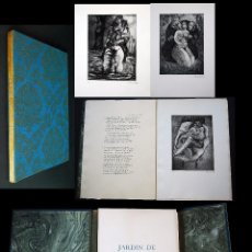 Libros de segunda mano: JARDIN DE FLORES. CON 10 AGUAFUERTES DE ESTHER ORTEGO. Lote 97097143