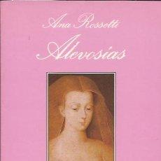 Libros de segunda mano: NOVELA EROTICA- ANA ROSSETTI ALEVOSIAS TUSQUETS 1991 SONRISA VERTICAL. Lote 100579175
