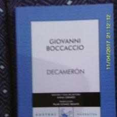 Libros de segunda mano: LIBRO Nº 1162 DECAMERON DE GIOVANNI BOCCACCIO. Lote 102465531