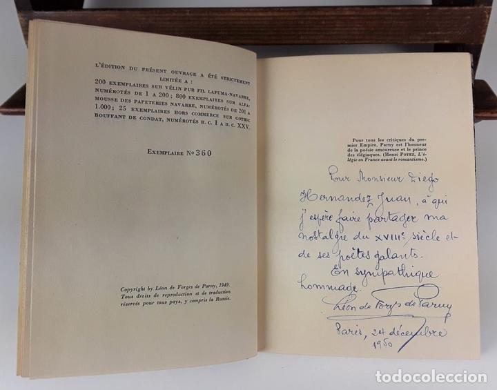 Libros de segunda mano: LE CHEVALIER DE PARNY ET SES POÉSIES ÉROTIQUES. L. DE FORGES. IMP CHANTENAY. 1949. - Foto 4 - 107635155