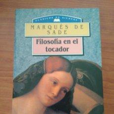 Libros de segunda mano: MARQUES DE SADE. FILOSOFIA EN EL TOCADOR. EDIMAT. Lote 112440891