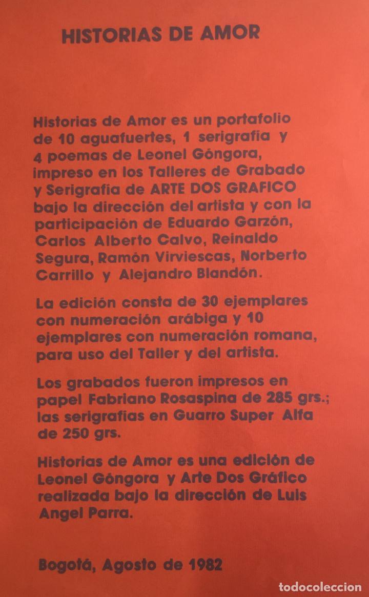 Libros de segunda mano: HISTORIAS DE AMOR. GÓNGORA, Leonel. EDICIÓN DE 30 EJEMPLARES. ERÓTICA. - Foto 12 - 114282343