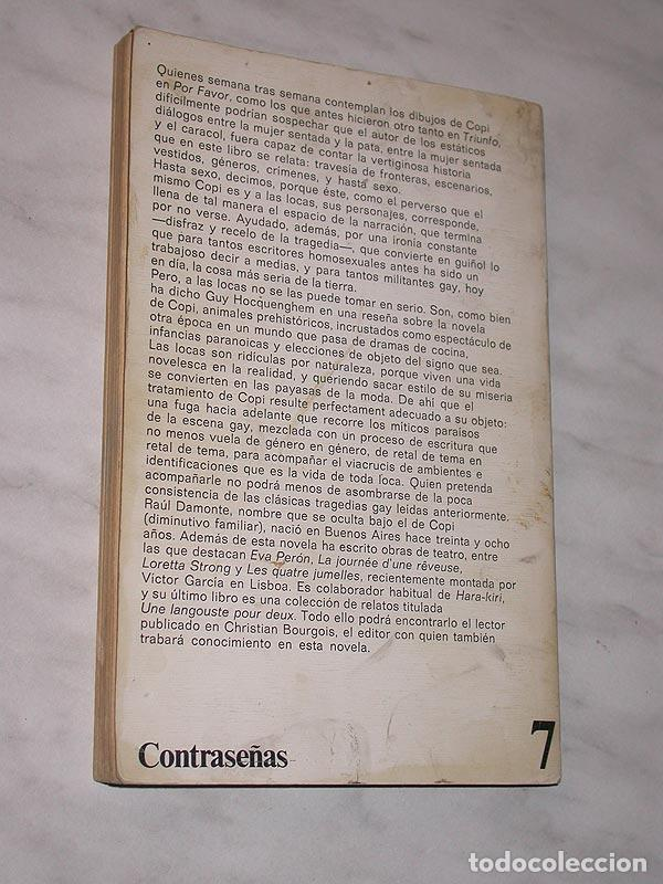 Libros de segunda mano: EL BAILE DE LAS LOCAS. COPI (RAÚL DAMONTE) CONTRASEÑAS Nº 7. ANAGRAMA, 1978. PORTADA JULIO VIVAS. ++ - Foto 2 - 117364051